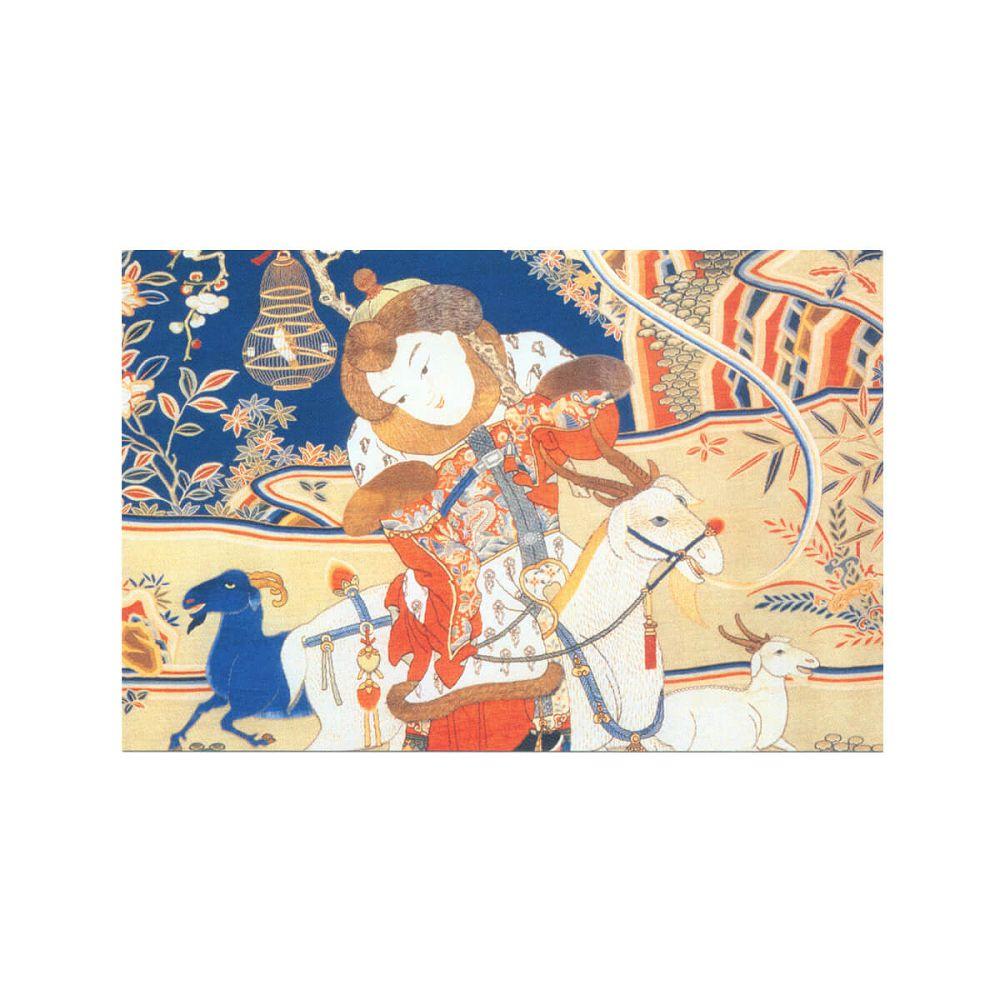 故宮精品   刮刮樂明信片-開泰圖(局部)