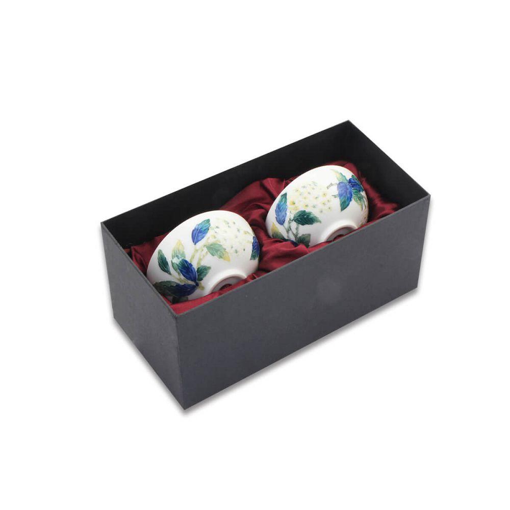 故宮精品 | 法華繡球花雙杯組
