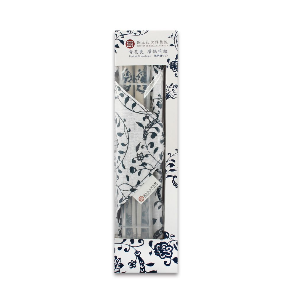 故宮精品 | 青花瓷 環保筷組