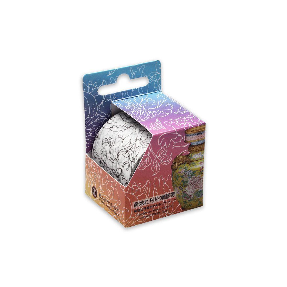 故宮精品 | 黃地牡丹彩繪膠帶