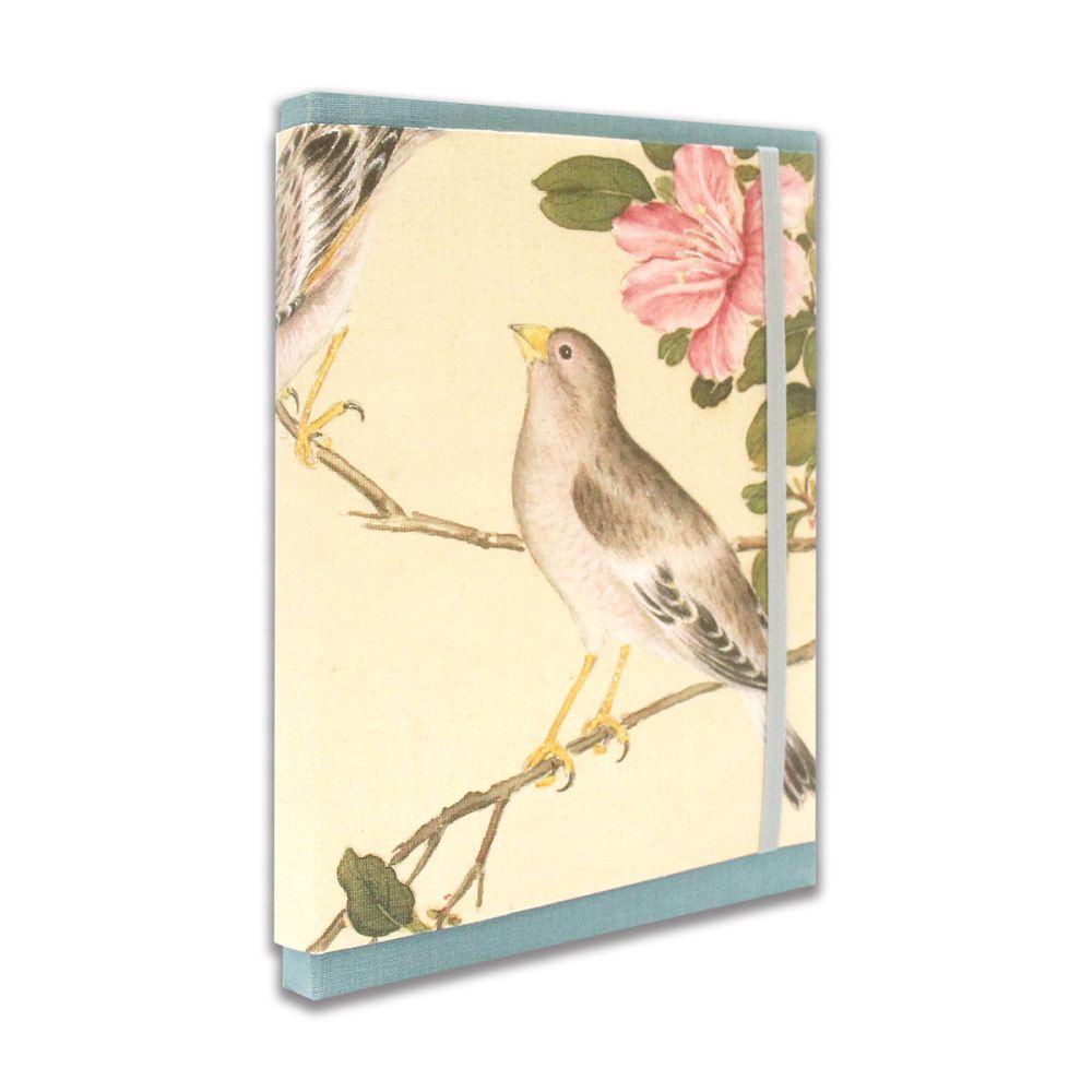 故宮精品 | 百卉含英-故宮院藏花卉畫萬用週誌手帳-藍