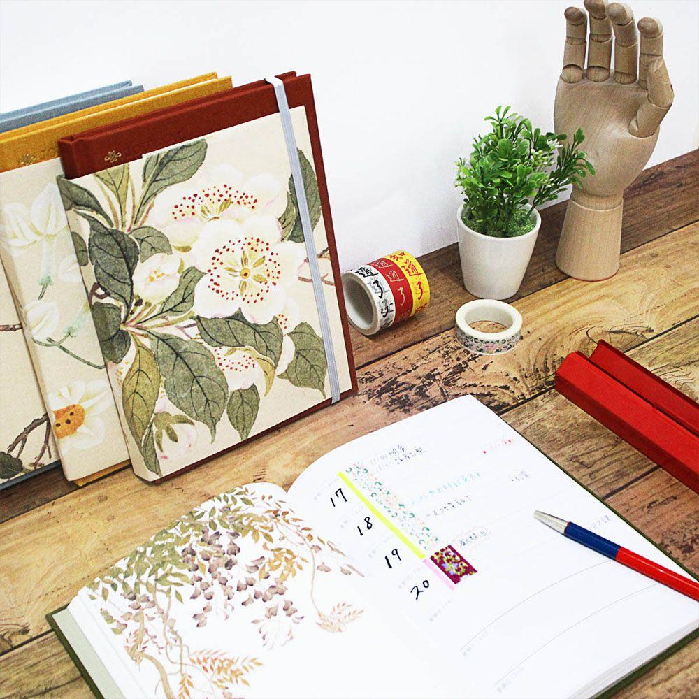 故宮精品 | 百卉含英-故宮院藏花卉畫萬用週誌手帳-黃