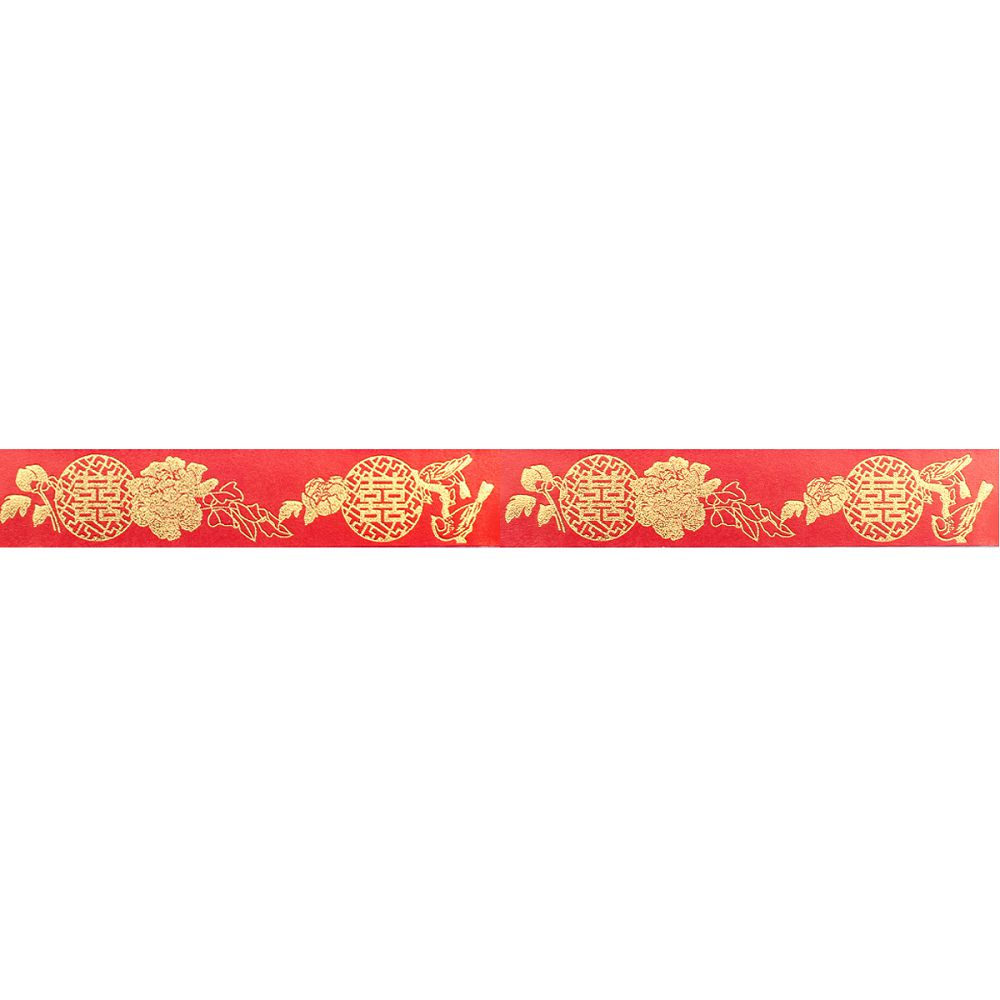 故宮精品 | 大紅囍事海棠燙金紙膠帶
