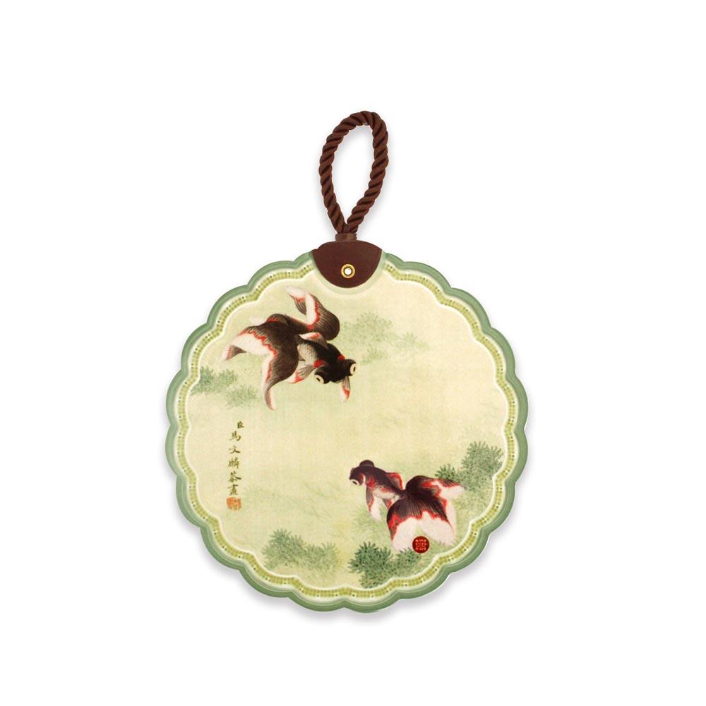 故宮精品 | 陶瓷隔熱墊魚藻金魚