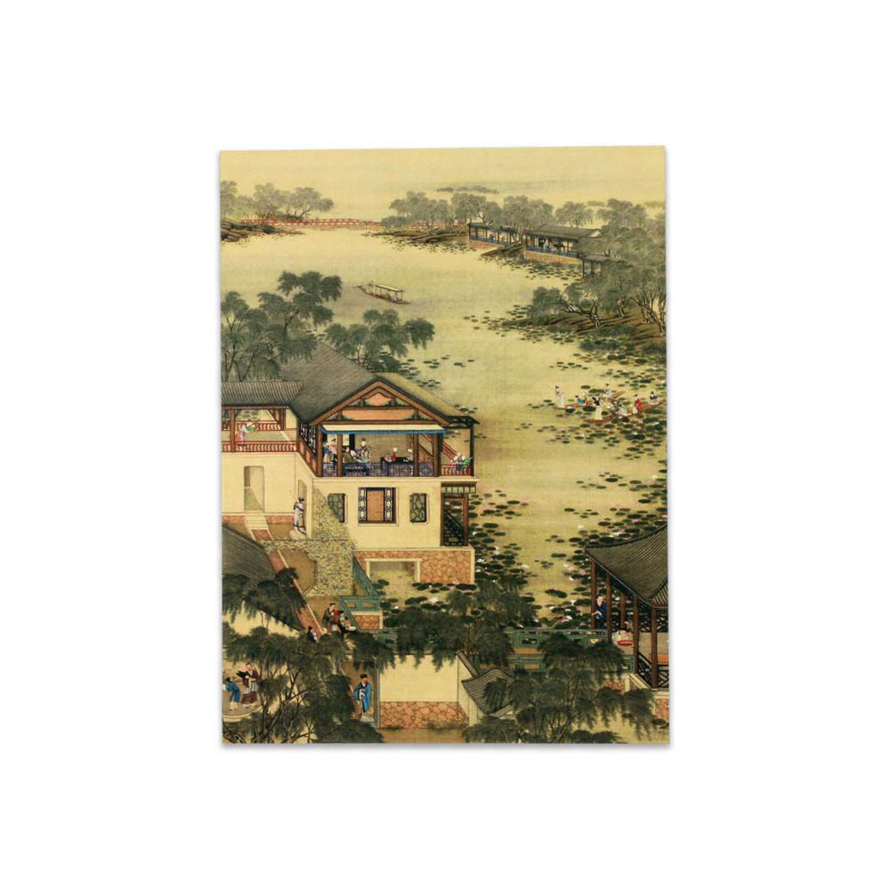 故宮精品   明信片-十二月月令圖 六月