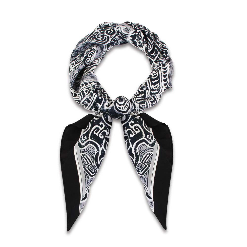 故宮精品   蟠龍紋盤絲巾 (黑)