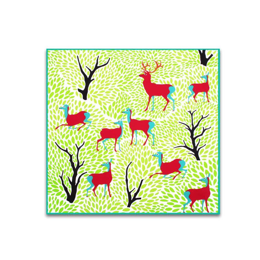 故宮精品 | 手絹-丹楓呦鹿