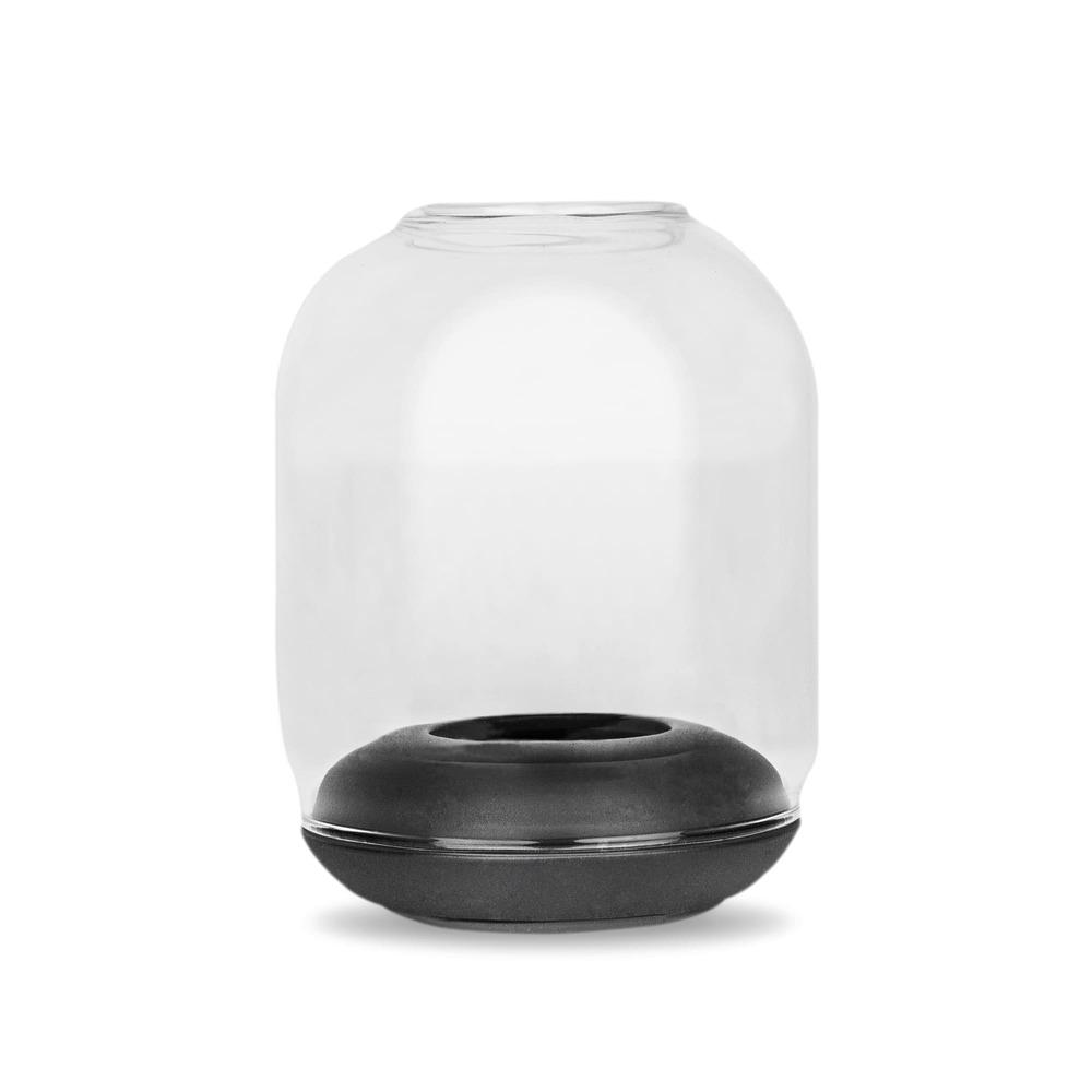 no.30 靜_防風燭台-黑 Lantern Tea Light Holder-Black