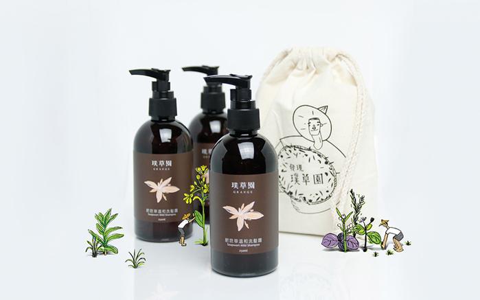 璞草園 │ 肥皂草溫和洗髮露 三入組