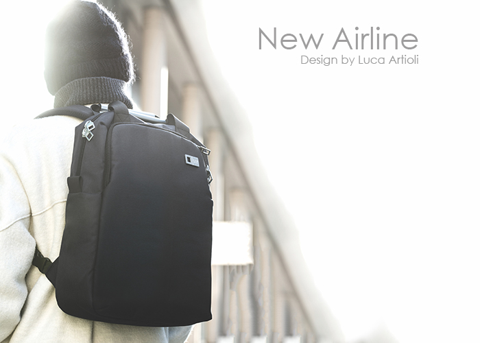 NEW AIRLINE雙層後背包