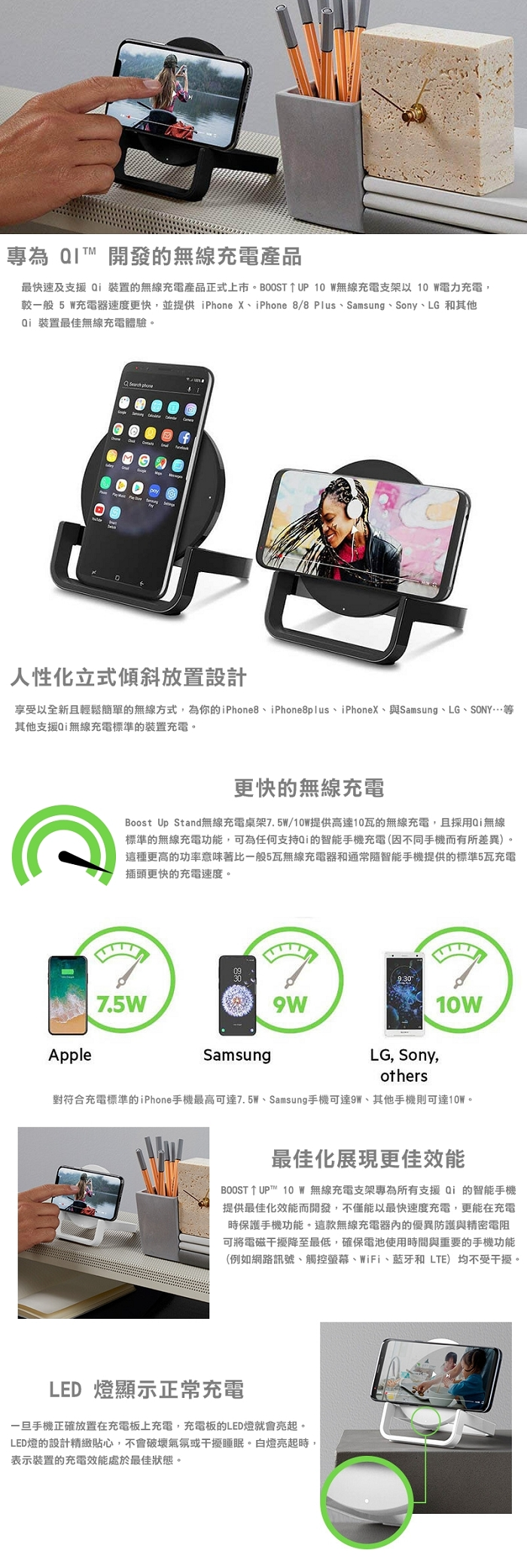 (複製)Belkin |BOOST UP™ Qi 無線充電板-5W