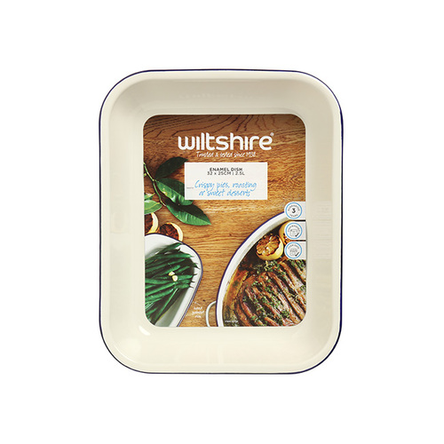 Wiltshire |澳洲ENAMEL琺瑯手工方形烤盤-2500ml-藍