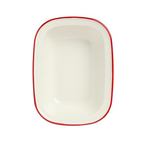 Wiltshire  澳洲ENAMEL琺瑯手工方形烤盤-1000ml-紅