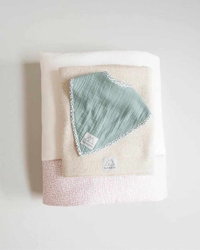 NANAMI  | 雙層有機棉三角領巾/圍兜