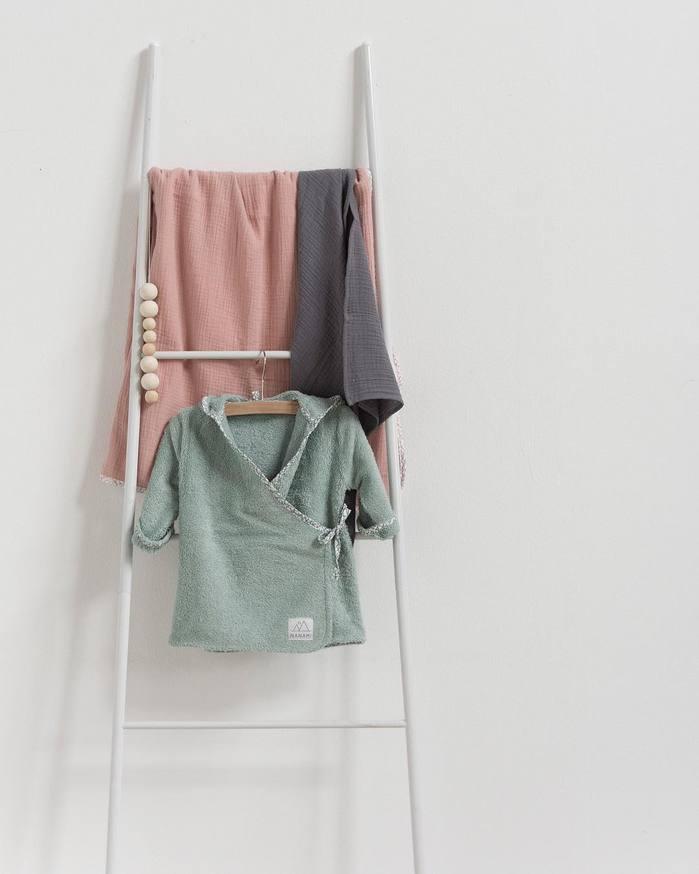 NANAMI | 寶貝浴袍 淺綠色