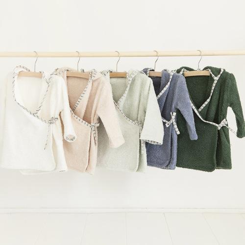 NANAMI | 寶貝浴袍 淺綠色 寶寶款