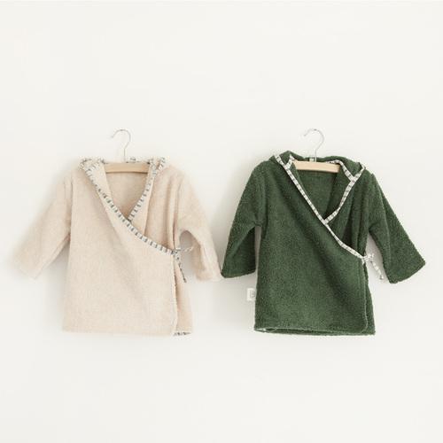 NANAMI | 寶貝浴袍 深綠色 小童款