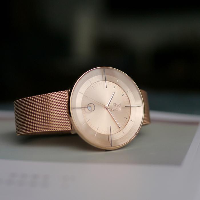 ZOOM │ FLOATING 光燦美學米蘭腕錶-玫瑰金/42.5mm