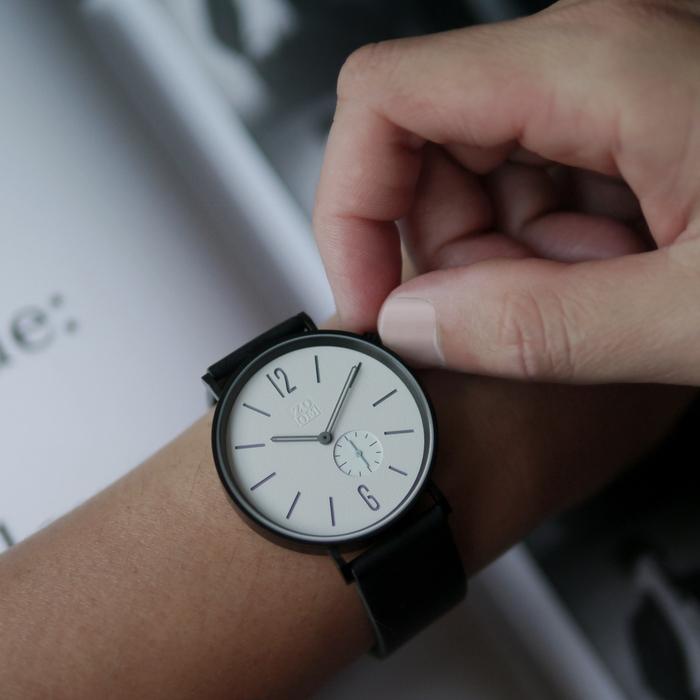 ZOOM|LEAK 黎刻簡約小秒腕錶 - 白/41mm