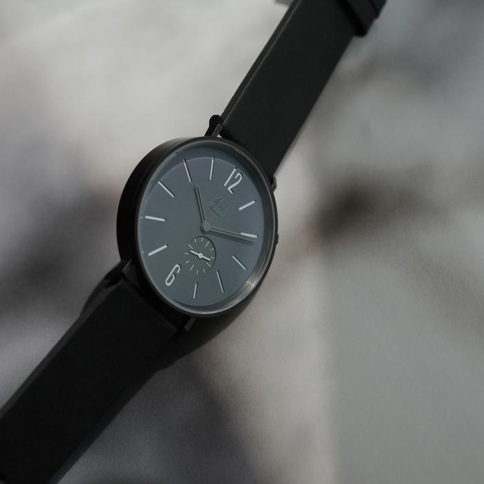 (複製)(複製)ZOOM|LEAK 黎刻簡約小秒腕錶 - 黑/41mm
