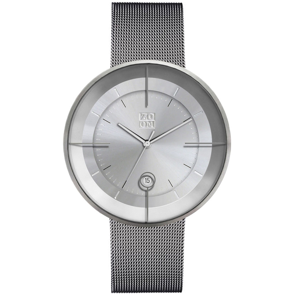 ZOOM │ FLOATING 光燦美學米蘭腕錶-銀/42.5mm