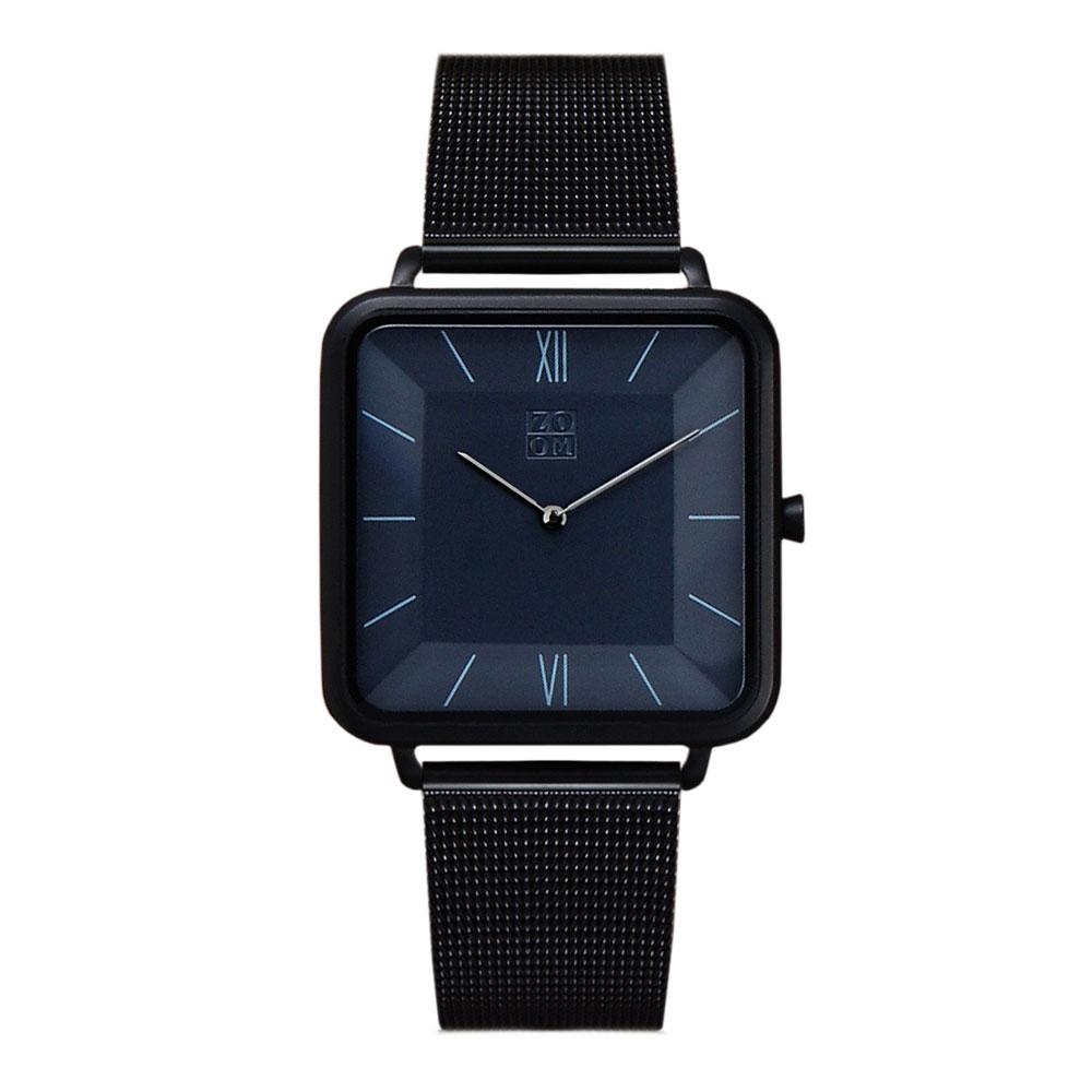 ZOOM │ THIN 時尚極簡晶礦方錶-黑色-35.5*35.5mm