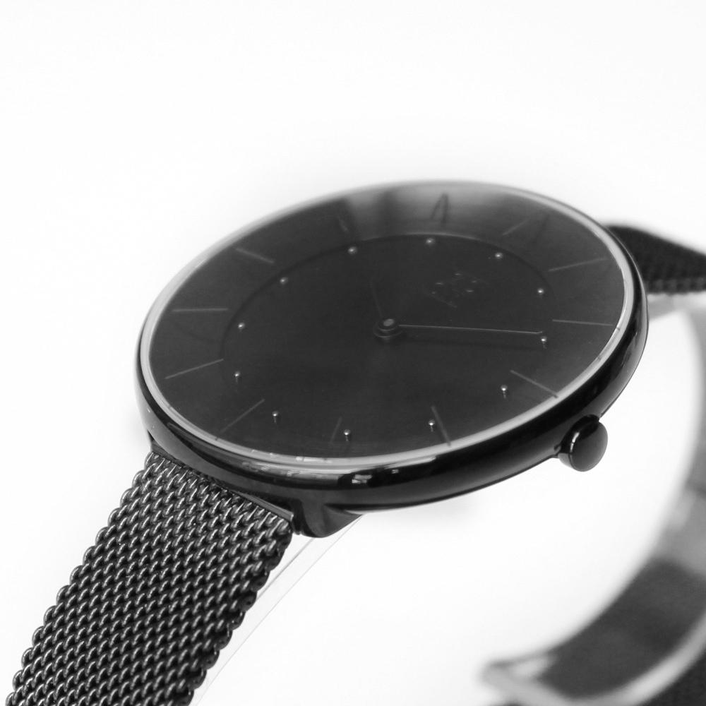 ZOOM FLOATING 光感美學米蘭腕錶-黑/35mm