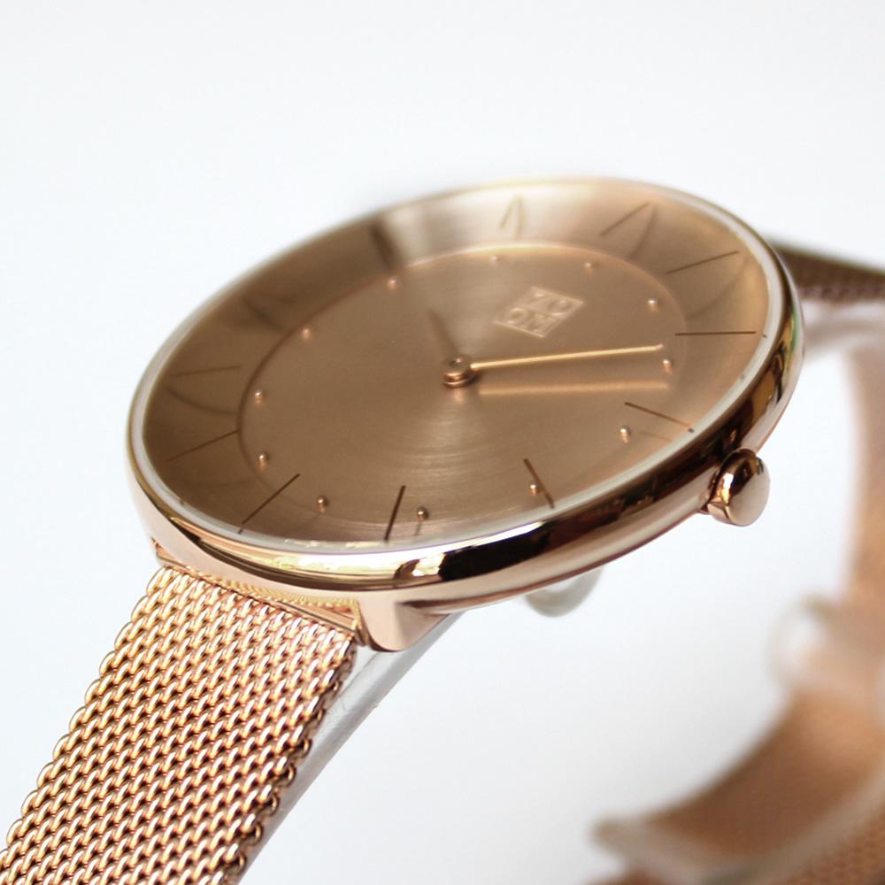 ZOOM FLOATING 光感美學米蘭腕錶-玫瑰金/35mm