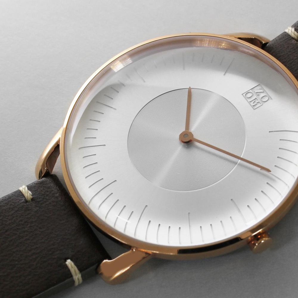 ZOOM SILO 極地光暈腕錶-玫瑰金/39mm