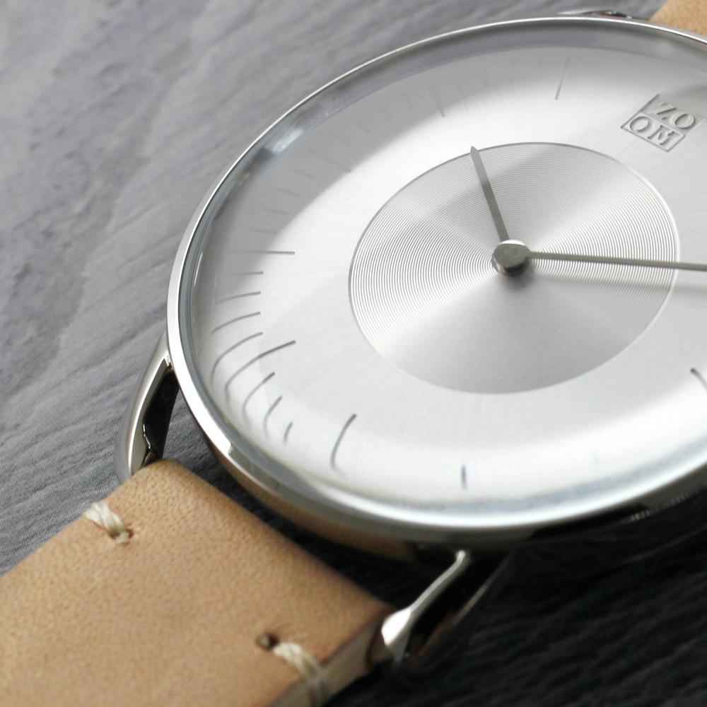 ZOOM|SILO 極地光暈腕錶-銀/39mm