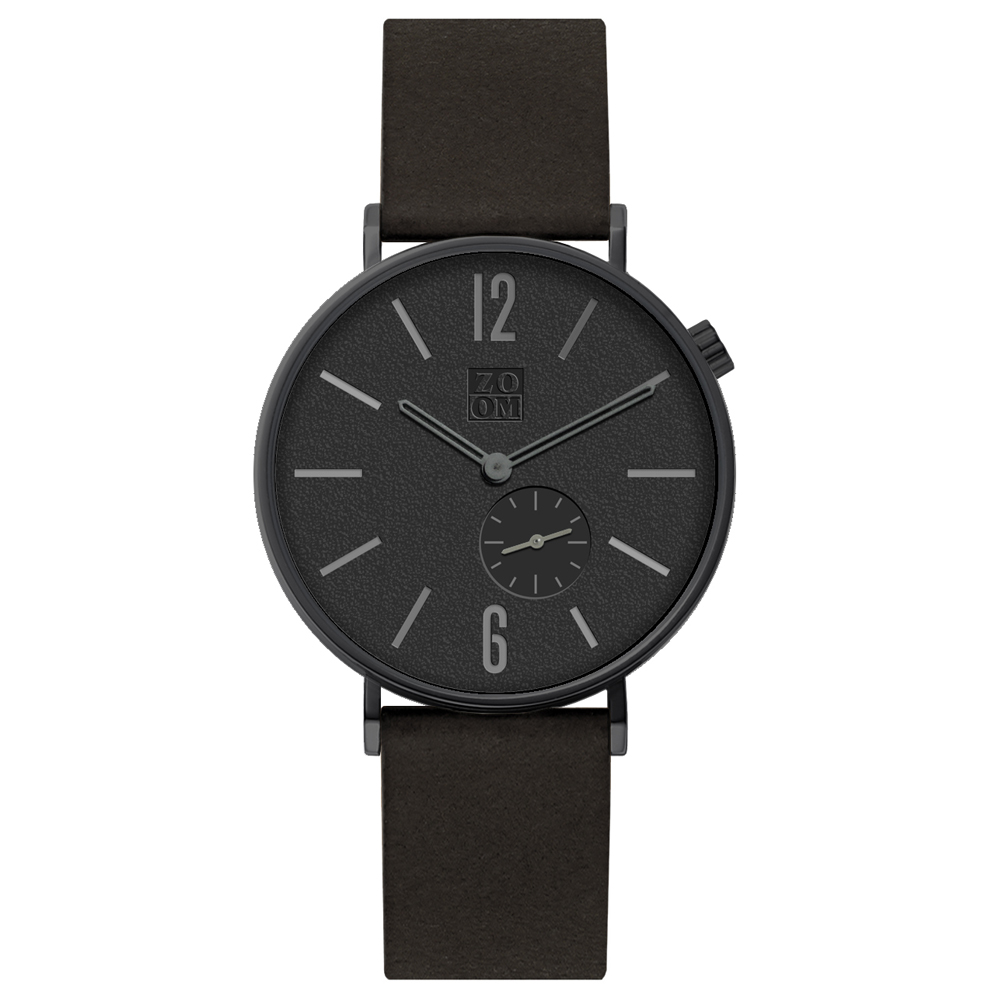 ZOOM|LEAK 黎刻簡約小秒腕錶 - 黑/41mm