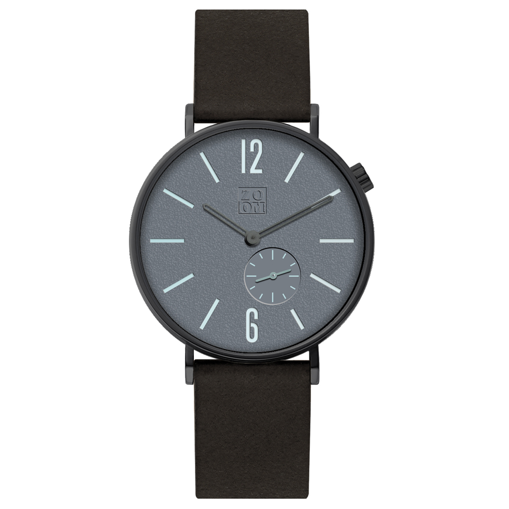 ZOOM|LEAK 黎刻簡約小秒腕錶 - 灰/41mm