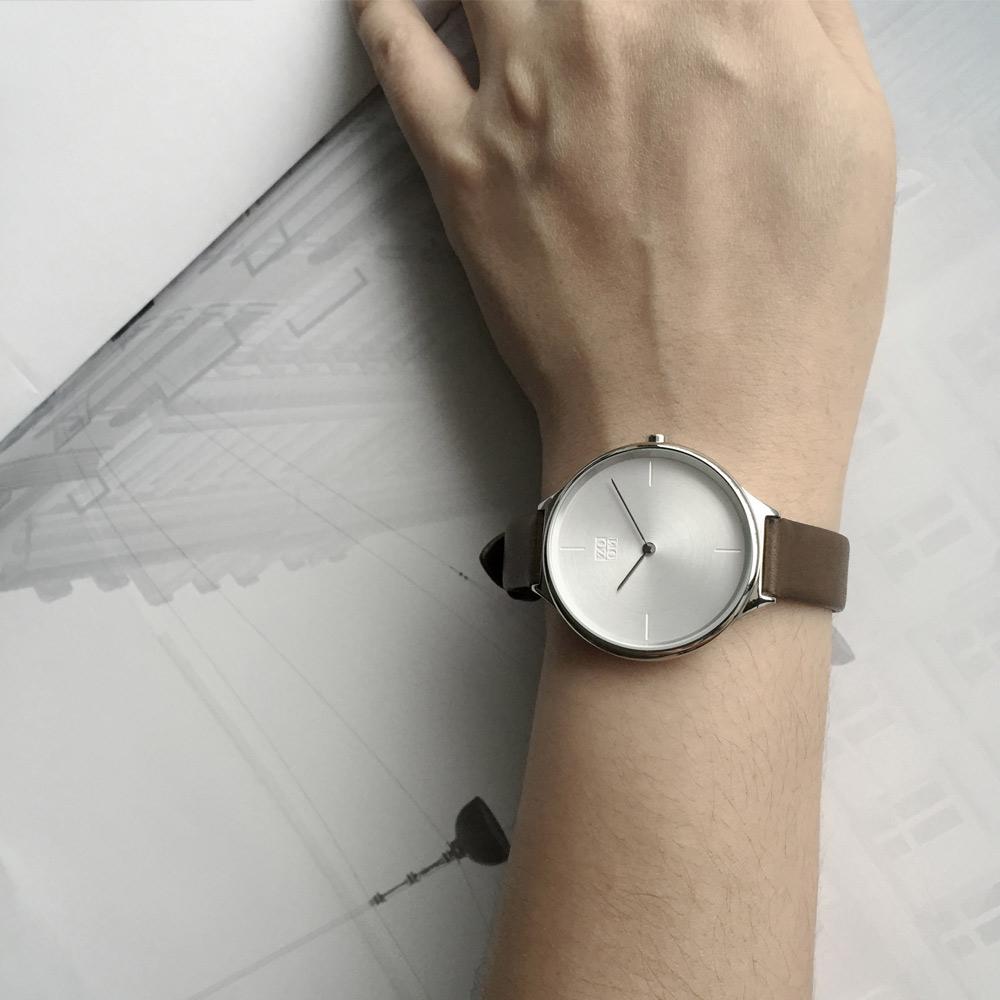 ZOOM|HAZY 輕薄潤澤知性女錶- 經典銀/34mm