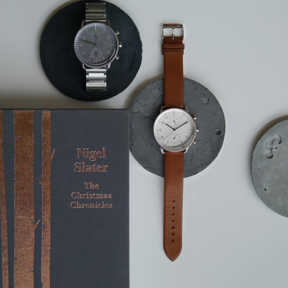 ZOOM REFINE 7148 旅行者多功能鋼帶腕錶- 灰色/44mm