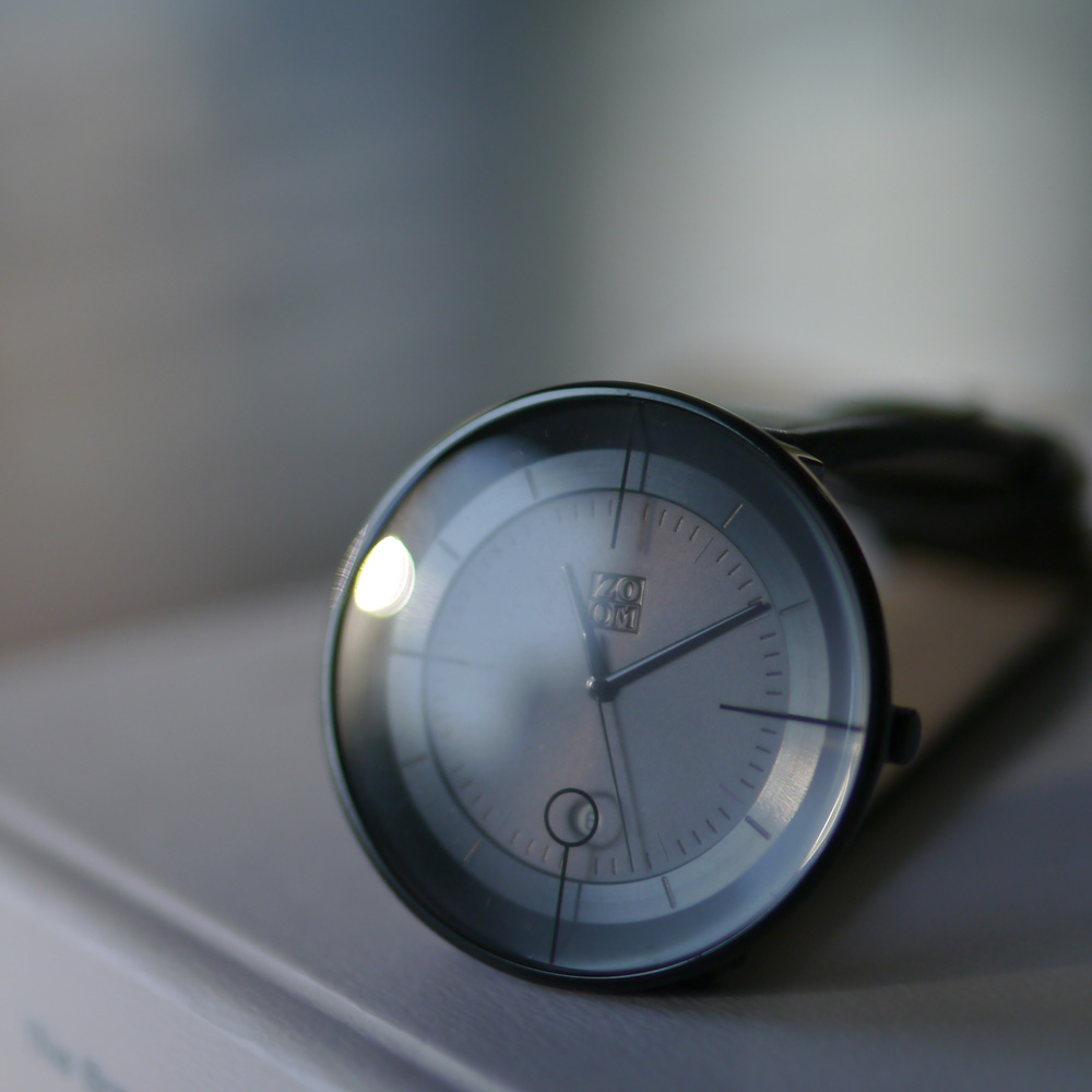 ZOOM|FLOATING 光燦美學腕錶-黑/42.5mm
