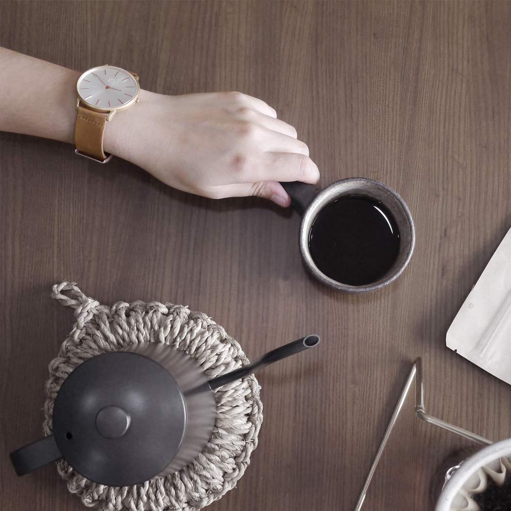 ZOOM|THIN 5010 極簡超薄真皮皮革手錶(ZM5010)-玫瑰金
