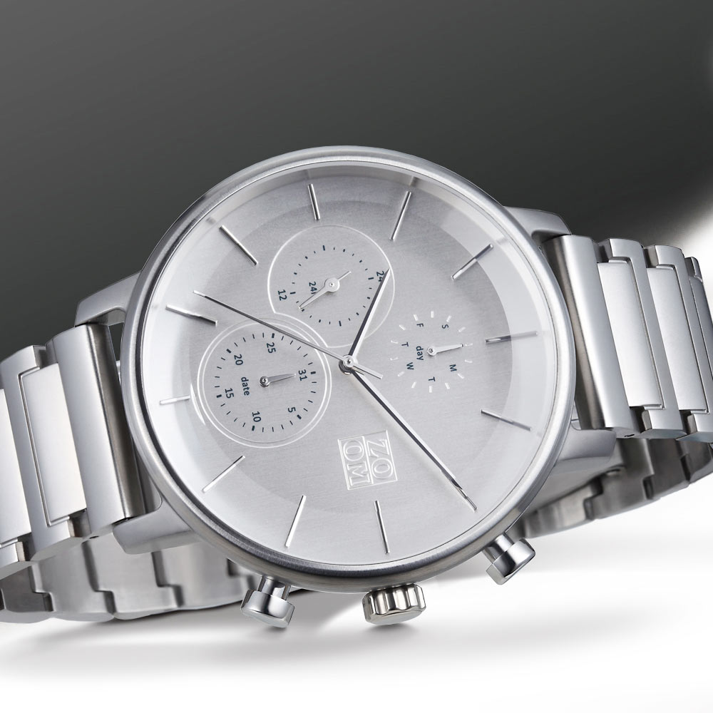 ZOOM|LENS 7138 美感聚焦概念鍊帶手錶(ZM7138)-銀