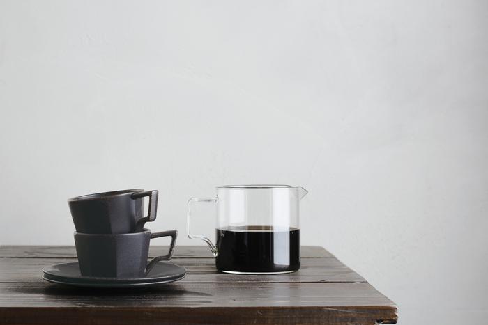 (複製)KINTO|OCT八角陶瓷杯盤組 80ml - 黑