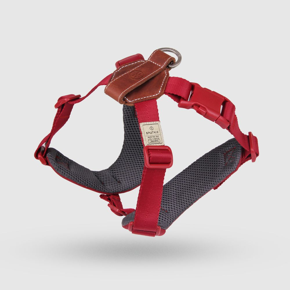 SPUTNIK|寵物胸背帶 Harness 紅 (M)