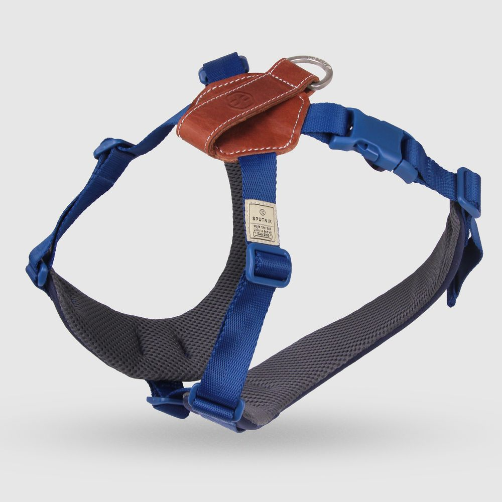 SPUTNIK 寵物胸背帶 Harness 藍 (L)