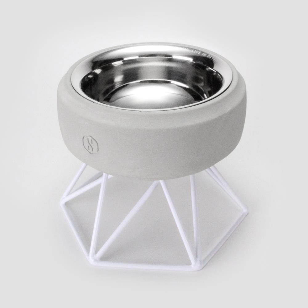 SPUTNIK︱COZY寵物碗 - 白水泥 (M1) / 白架