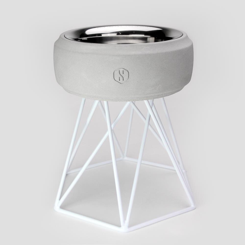 SPUTNIK︱COZY寵物碗 - 白水泥 (M2) / 白架