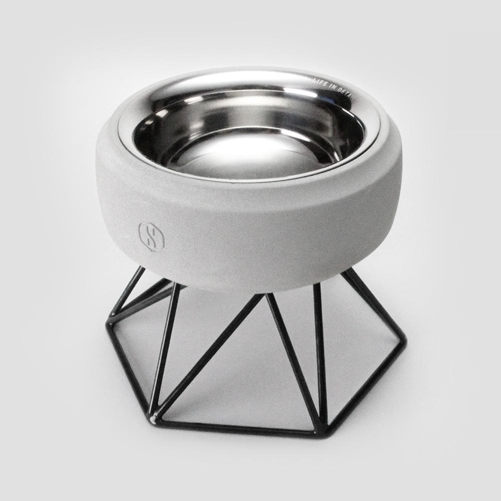 SPUTNIK︱COZY寵物碗 - 白水泥 (M1) / 黑架