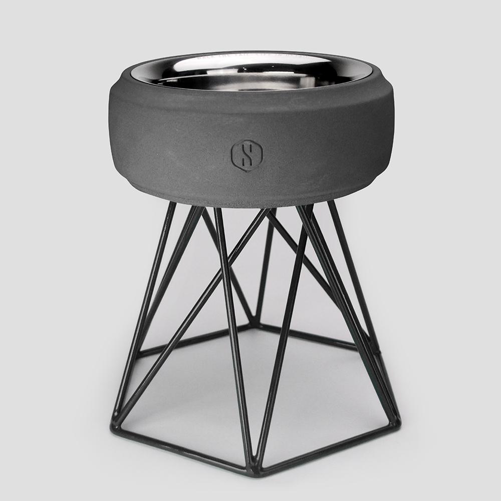 SPUTNIK︱COZY寵物碗 - 黑水泥 (M2) / 黑架
