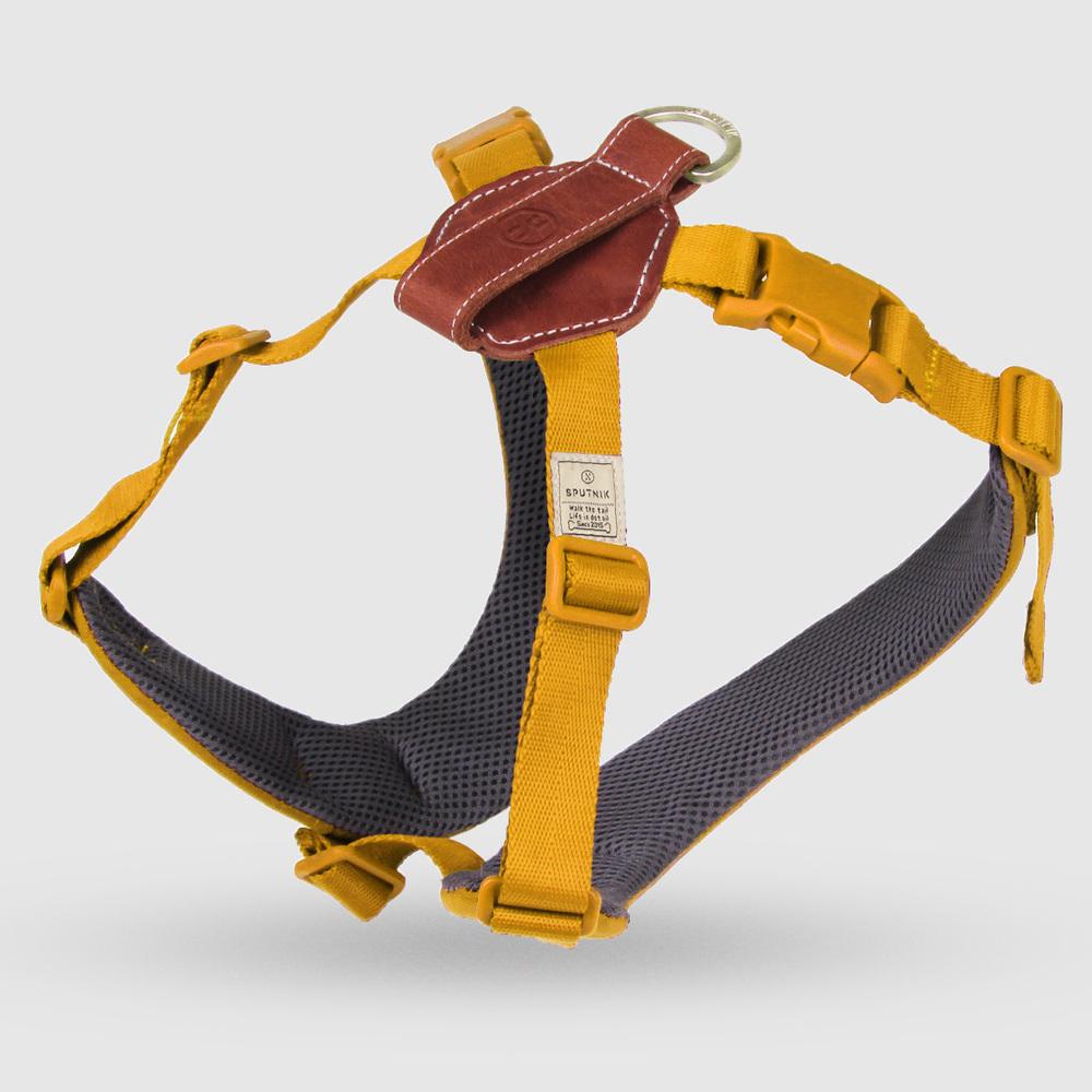 SPUTNIK|寵物胸背帶 Harness 黃 (L)
