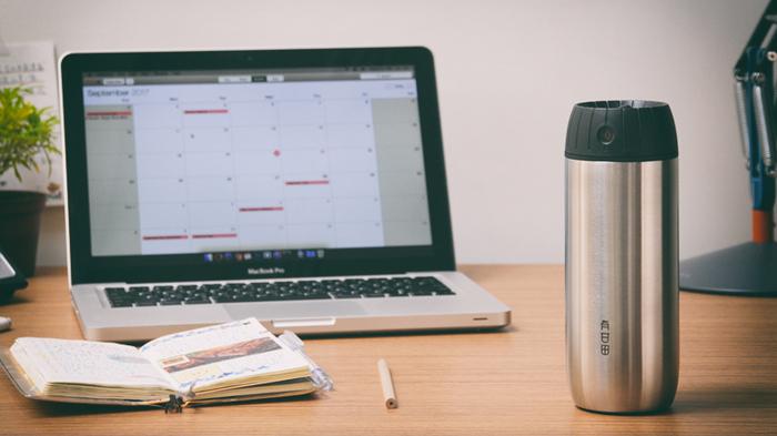 有甘田計時泡茶隨行保溫杯辦公室情境