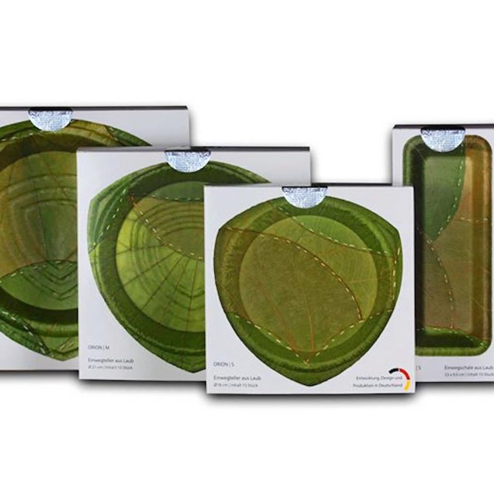 利芙樹葉餐盤|盒裝四入組合