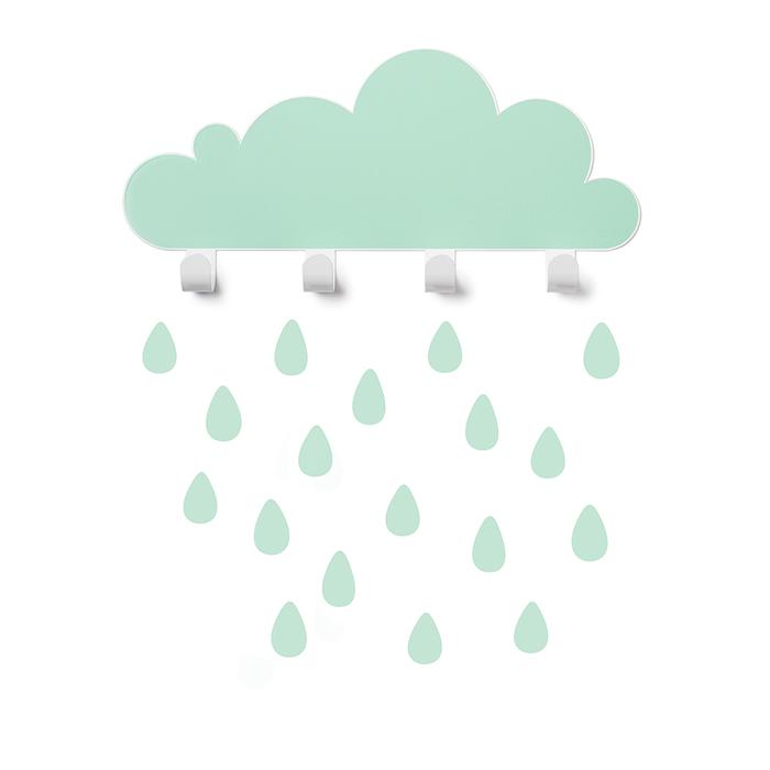 (複製)西班牙 Tresxics 大雲朵小雨滴掛勾(白)