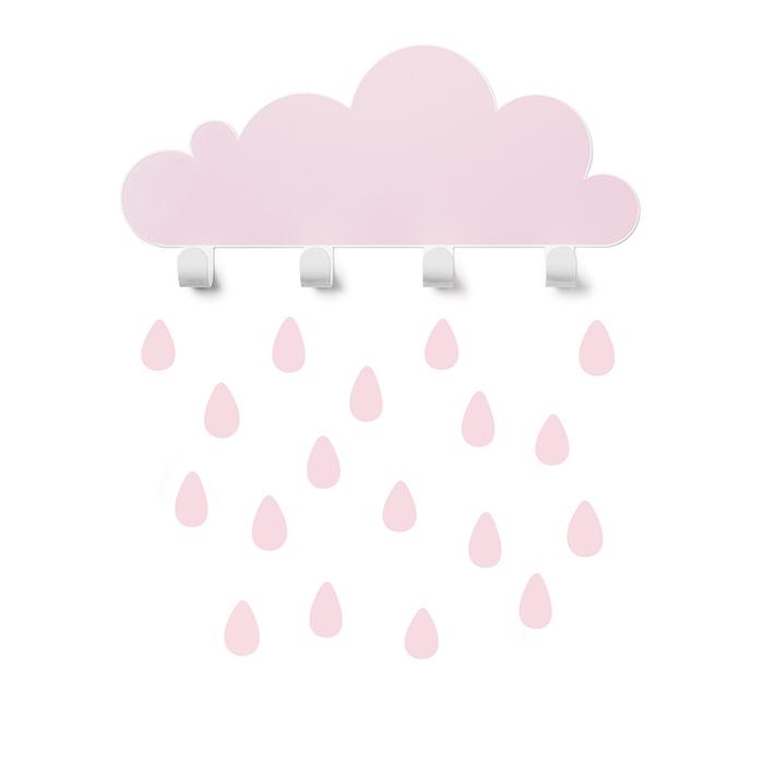 (複製)西班牙 Tresxics 大雲朵小雨滴掛勾(綠)