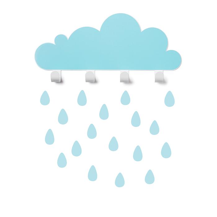 (複製)西班牙 Tresxics|大雲朵小雨滴掛勾(粉紅)